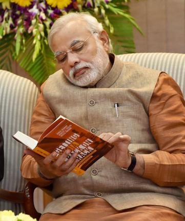 Two weeks after becoming India's prime minister, Narendra Modi today launched the book Getting India Back on Track: An Action Agenda for Reform at 7 Race Course Road.