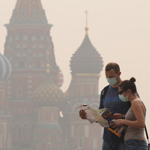 Smog from fires in Moscow