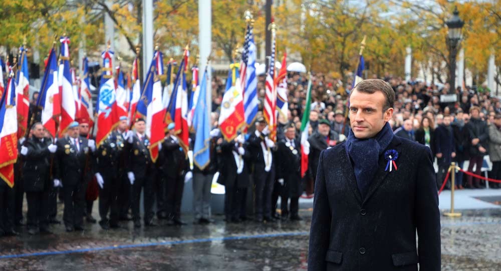Macron's Call for European Boots