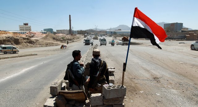 Houthi Checkpoint in Yemen