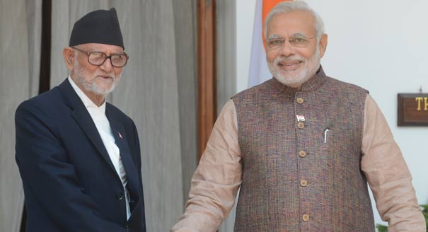 Indian PM Modi and Nepalese PM Koirala