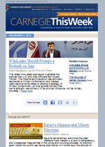 Carnegie This Week is the definitive source for the very best of Carnegie analysis, commentary, and events.