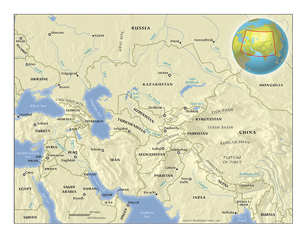 US Policy Toward Central Asia Carnegie Endowment For - Us attention on the middle east outline map answers