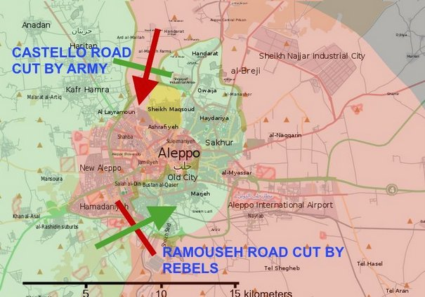Competing forces in the Syrian city of Aleppo have managed to place each other under siege, likely prompting further fighting at great human cost.