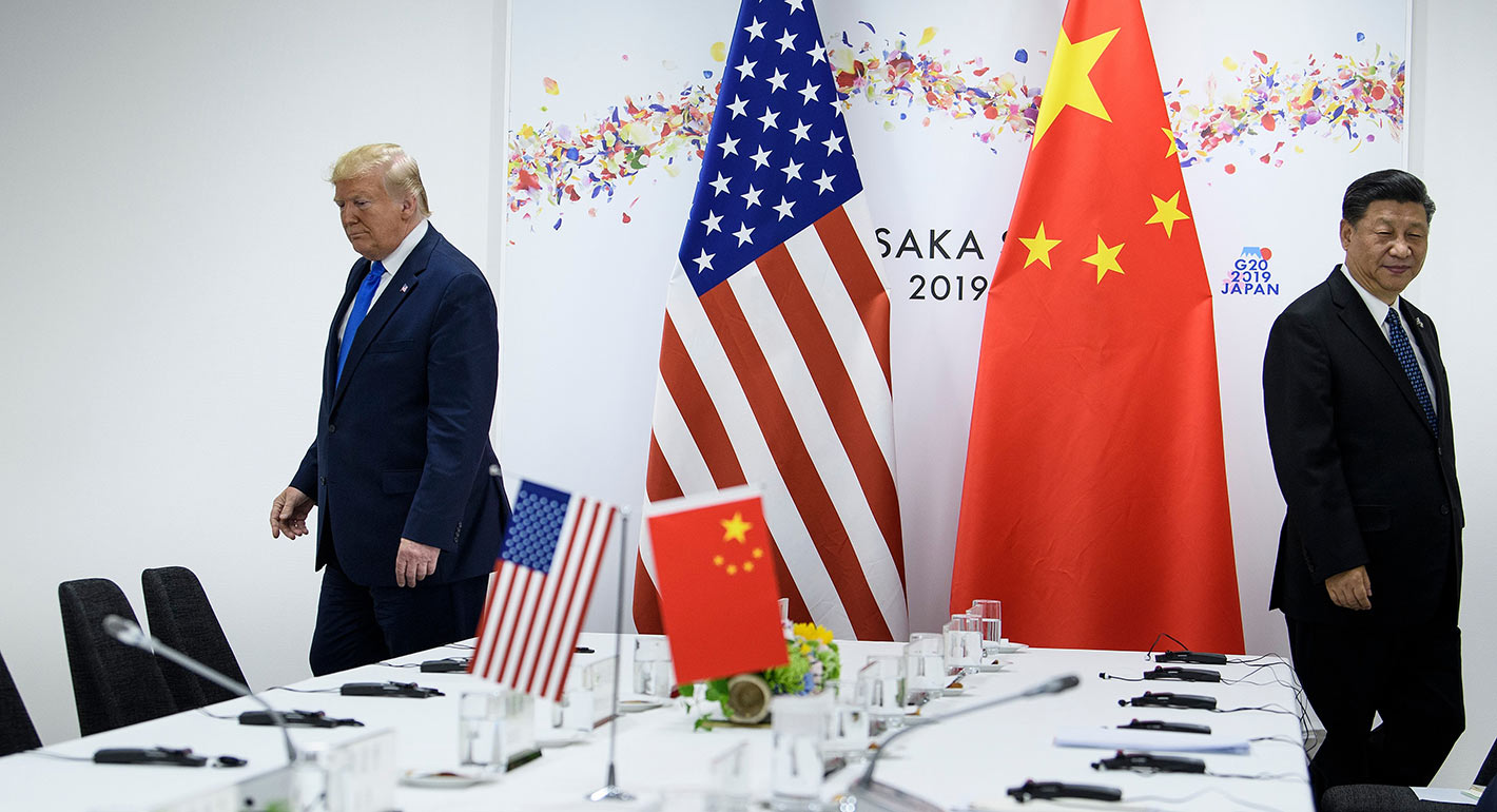 US President Donald Trump and China's President Xi Jinping attend a bilateral meeting on the sidelines of the G20 Summit in Osaka