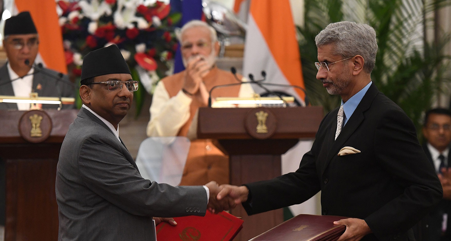 Meeting between Nepali and Indian government officials, 2017