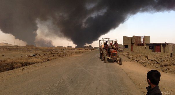 Photo Essay: The Black Smog of ISIS
