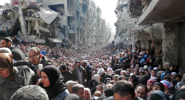Drawn into the Syrian conflict, Palestinian refugees in Yarmouk are turning to social media to generate support and to hold their divided leadership and the international community accountable.