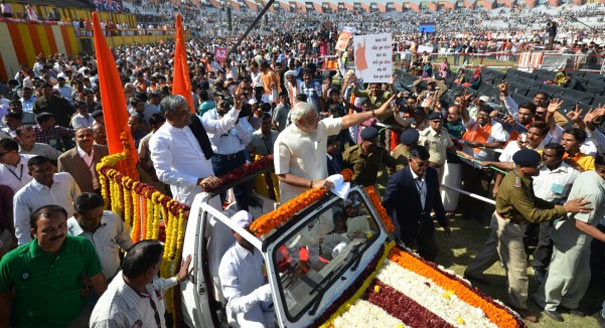 Indian PM Modi at a rally