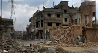 Damage and destruction in Qusayr, Syria