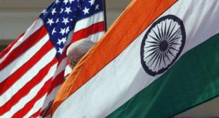 Indian and American Flags