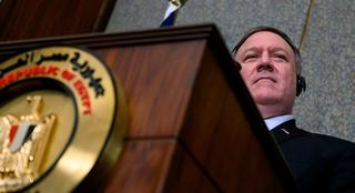 Pompeo holds a joint press conference with his Egyptian counterpart