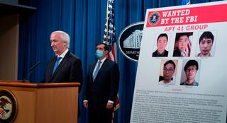 Deputy Attorney General Jeffery A. Rosen talks about charges and arrests related to computer intrusion campaign tied to Chinese government