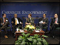 The session, part of the Carnegie Endowment's <i>NEW VISION</i> launch, examines the state of the Arab political reform agenda, what can be expected in terms of political change in the region, and what the U.S. efforts should be to promote regional reform.