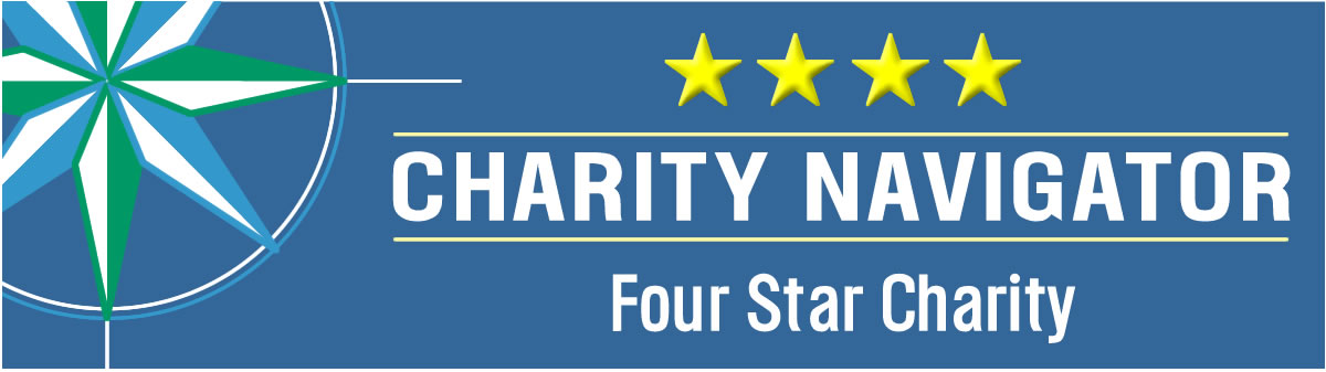 text: Charity Navigator - four star charity