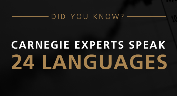 Did you know Carnegie experts speak 24 languages