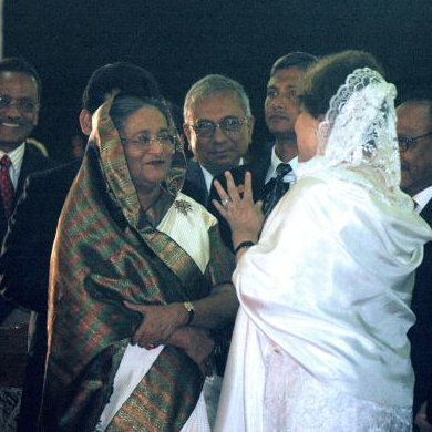 Sheikh Hasina waves