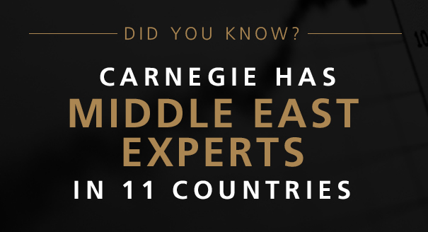 Carnegie has Middle East experts in 11 countries.